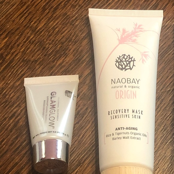 Nelson J Beverly Hills / Glamglow / Naobay Other - Face Masks x 2 (See Description)